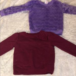 Bundle Of Two Toddler Sweat Shirts Size 3T